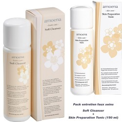 Pack entretien faux seins, Soft Cleanser+Skin Preparation Tonic