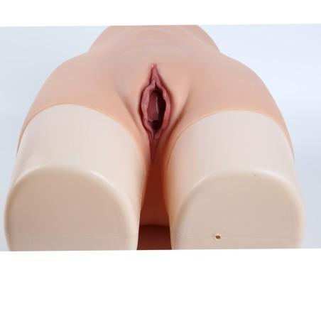 Panty faux vagin artificiel en silicone, taille haute