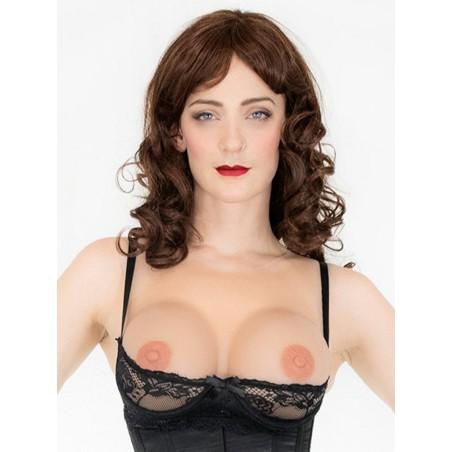 Buste plastron faux seins silicone auto-adhésif Athéna