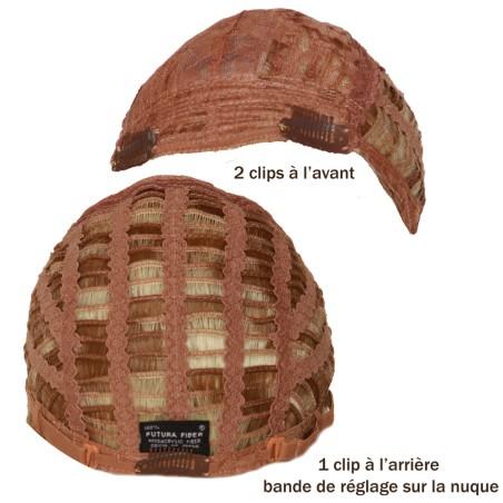 Perruque longue et ondulée fibres semi naturelle style afro