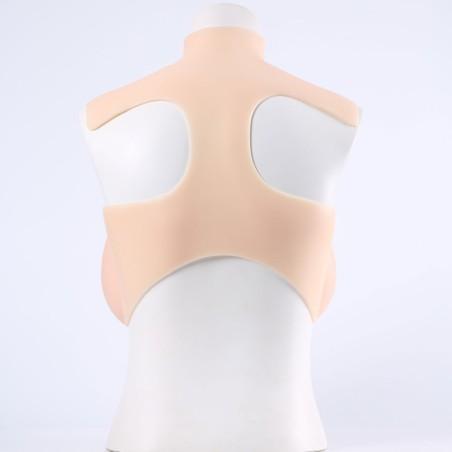 Buste faux seins, avec col haut, un look tendance