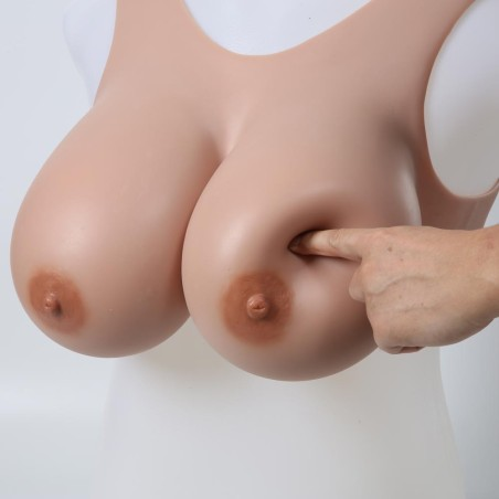 Buste faux seins 100% silicone, style brassière