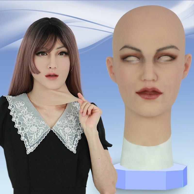 Masque féminin  en silicone, tête pleine