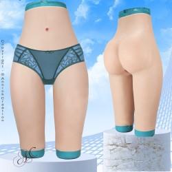 Panty taille haute faux vagin, en silicone
