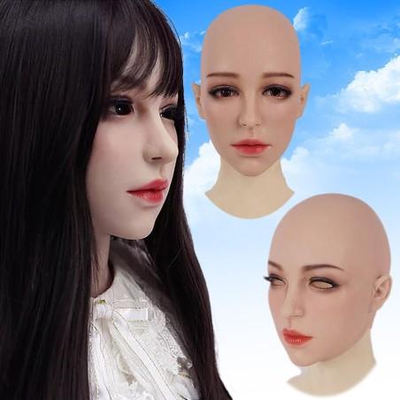 Masque féminin haut de gamme, tête pleine