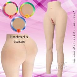 Legging faux vagin réaliste, en silicone