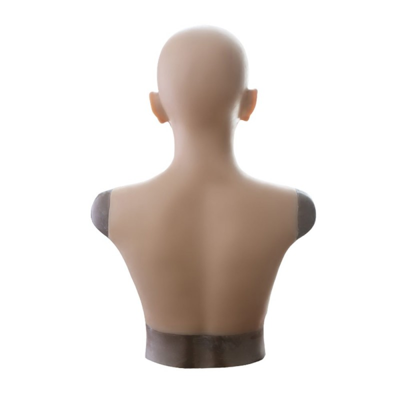 Buste faux seins masque intégré