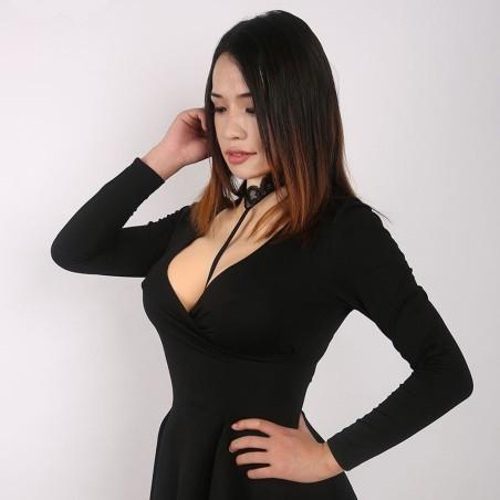 Buste faux seins réaliste, dos ouvert